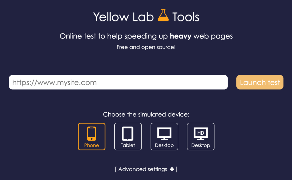 Yellow Lab Tools v2 home page